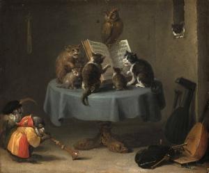 David_Teniers_der_Juengere_-_Das_Katzenkonzert